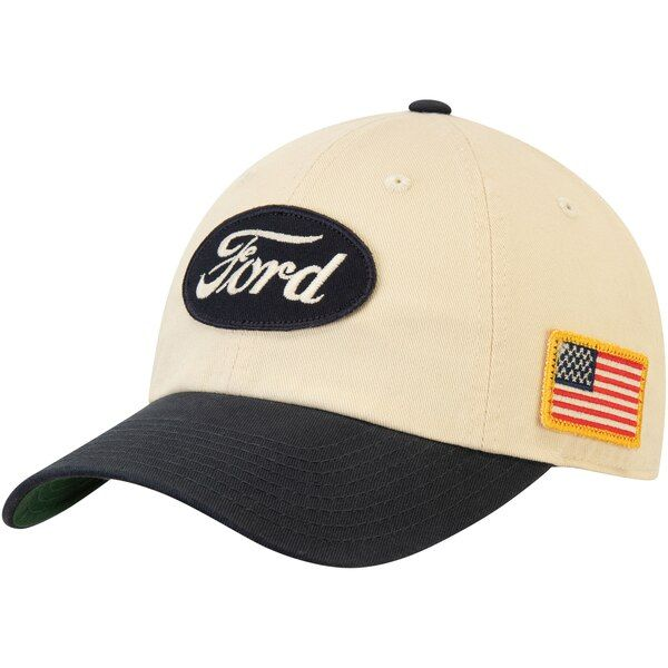 Ford American Needle Auto United Slouch Adjustable Hat - Cream/Navy