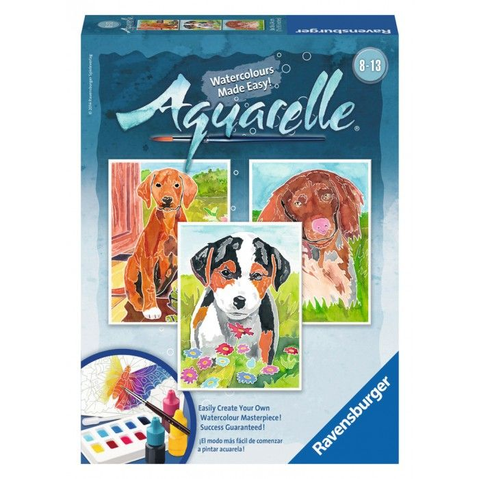 Aquarelle Midi Puppies Watercolor Kit Ravensburger 29325