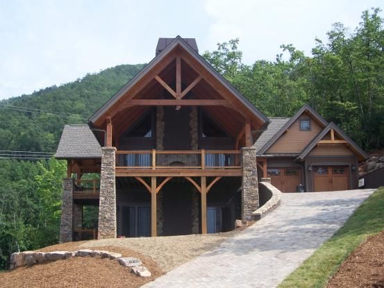 North Carolina Timber Frame Home Basement House Plans New House Plans Architecture House