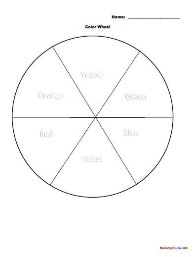Easy First Grade Color Wheel Coloring Page Why Aren T Color Wheels All The Same Color Wheel Color Wheel Projects Primary Color Wheel