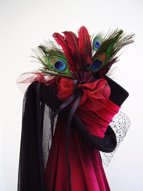 steampunk hats for women Black top hat steampunk Lady