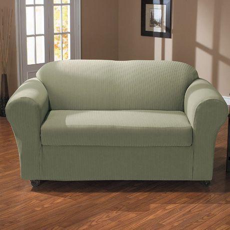 Fine Surefit Sure Fit Spencer Stretch Sofa Slipcover Sage Download Free Architecture Designs Embacsunscenecom
