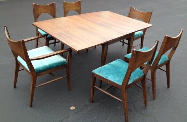 Broyhill Saga Dining Table Mid Century Dining Atomic Decor Furniture