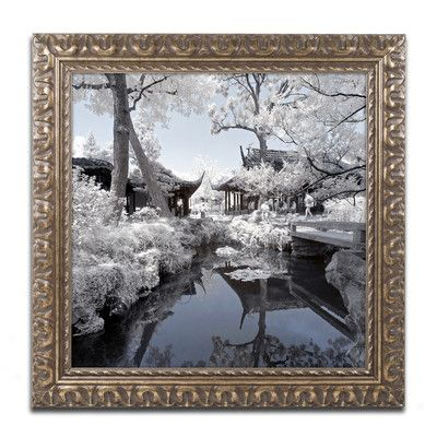 """Trademark Art """"Double Temples"""" by Philippe Hugonnard Framed Photographic Print Size: 16"""" H x 16"""" W x 0.5"""" D"""