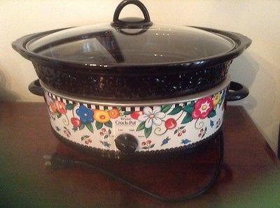 mary engelbreit crock pot rival stoneware slow cooker 6 quart