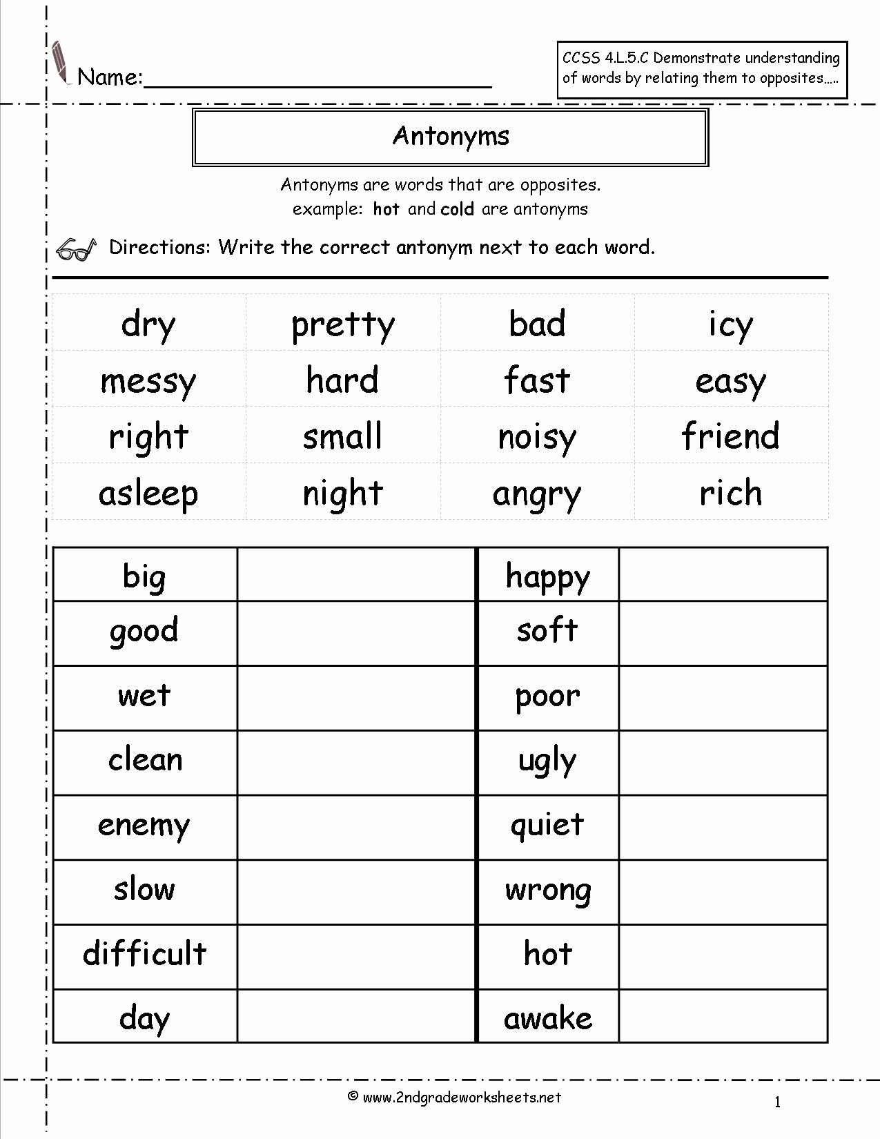 2nd Grade Grammar Worksheets New Free Language Grammar
