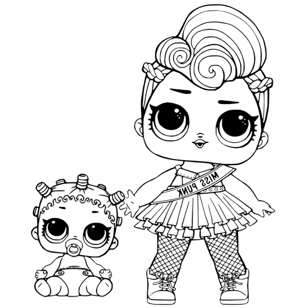 miss punk lol surprise doll coloring pages  cool coloring