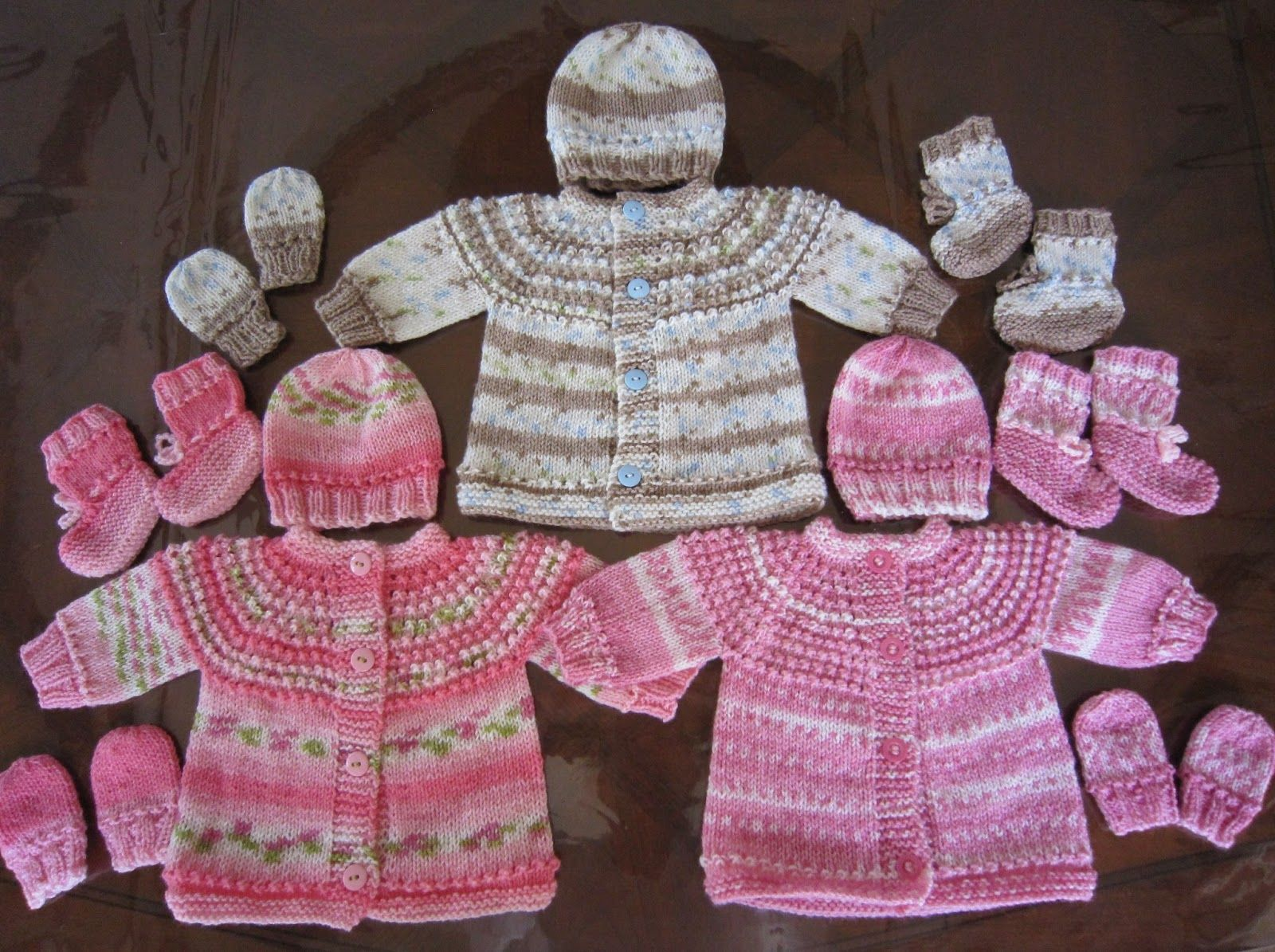 Sea trail grandmas preemie and newborn seamless sweater hat sea trail grandmas preemie and newborn seamless sweater hat mittens and booties set knit bankloansurffo Gallery