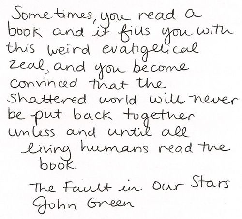 "Amazing Quotes To Live By: Absolutely Loved ""The Fault In Our Stars"" Amazing"