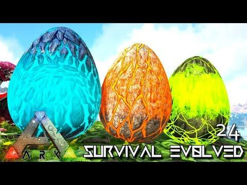 Cool ARK: SURVIVAL EVOLVED: ALPHA WYVERN EGGS U0026 TEK RAPTOR E24 !