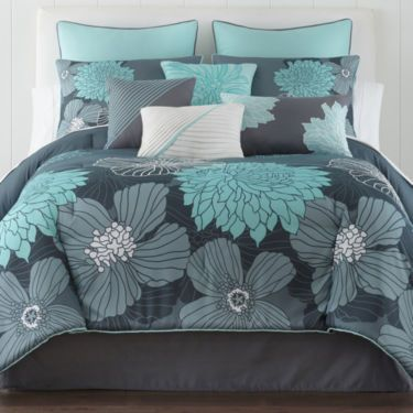Best Home Expressions™ Alice Modern Floral 10 Pc Comforter Set 400 x 300