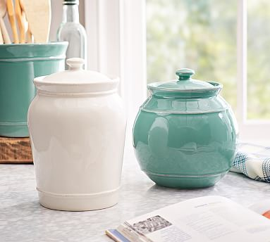 Cambria Canister Medium Stone At Pottery Barn Tabletop