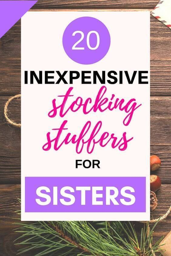 Inexpensive, Good Stocking Stuffers for Sisters This Christmas • #giftsforsister