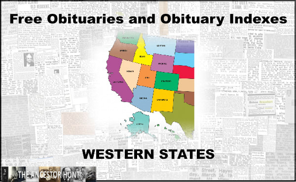 575 Free Obituary And Obituary Index Collection Links For The Western States Historical Newspaper Site Archive Obituaries
