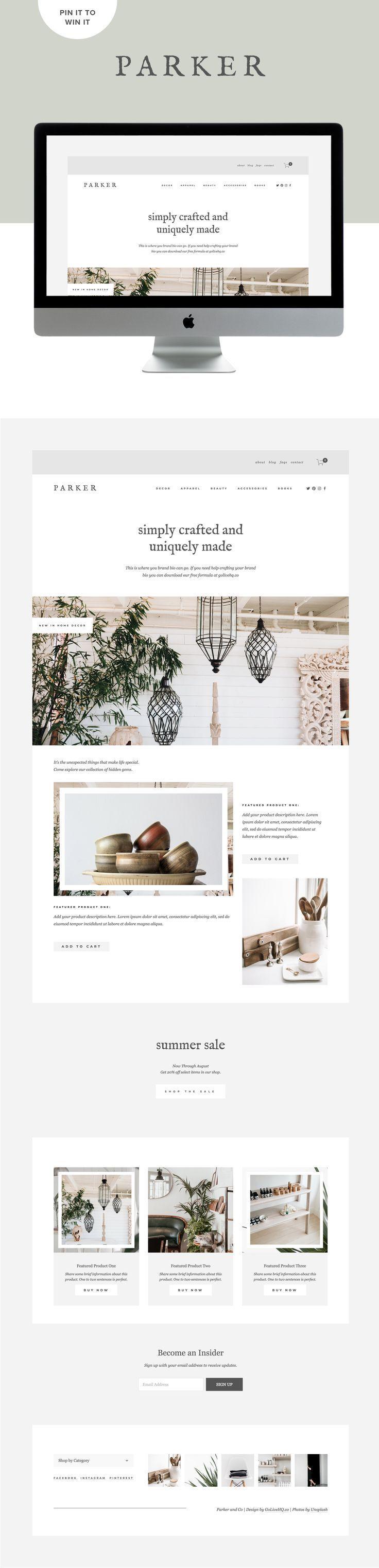 Modern Minimal E Commerce Website Design For Shops Design By Go Live Hq Web Design Web Design Trends Website Design