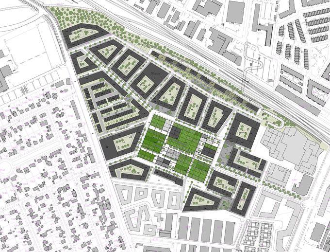 Gr nttorvet in valby denmark by polyform urban for Urban danish design