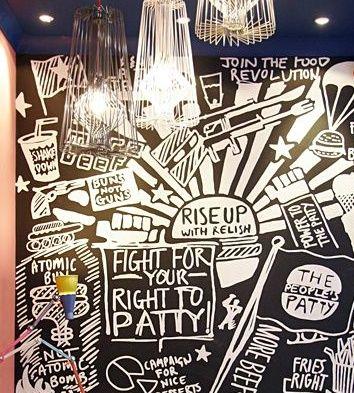 More Great Guerilla Burger Wall Art Design Ideas Pinterest