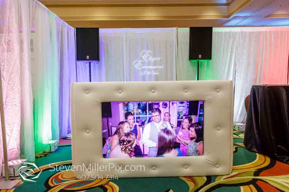 White Plush Tv Facade Orlando Dj Elegant Entertainment Dj Orlando