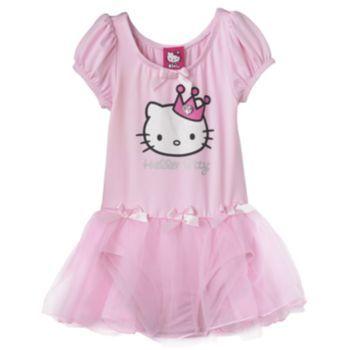 Hello Kitty Sparkle Skirted Dance Leotard - Girls Jessie Halloween - hello kitty halloween decorations