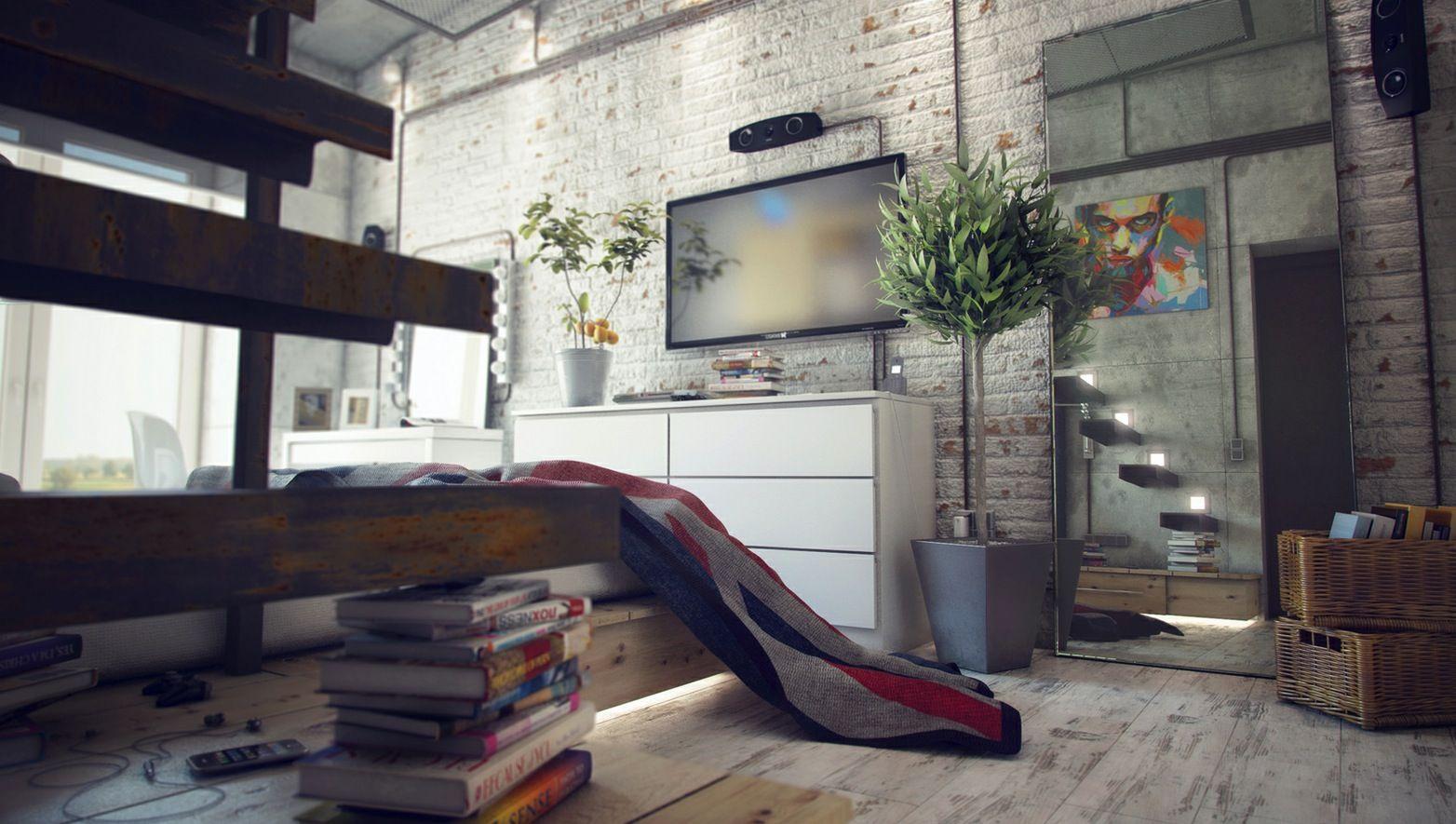 Mitte Jahrhundert Modernes Interieur Wohnzimmer Loft Interior Design  Remodeling Pinterest. Loft Interior Design Remodeling Pinterest