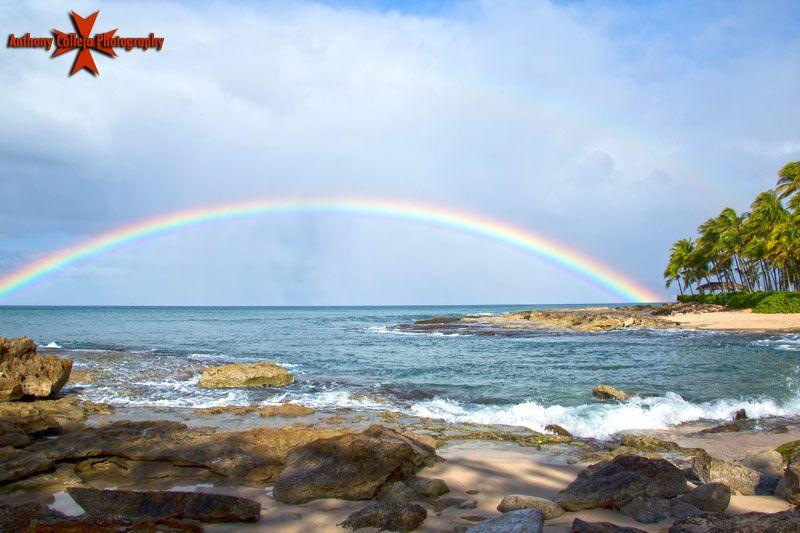 Hawaii Rainbow Photographed From Secret Beach Oahu