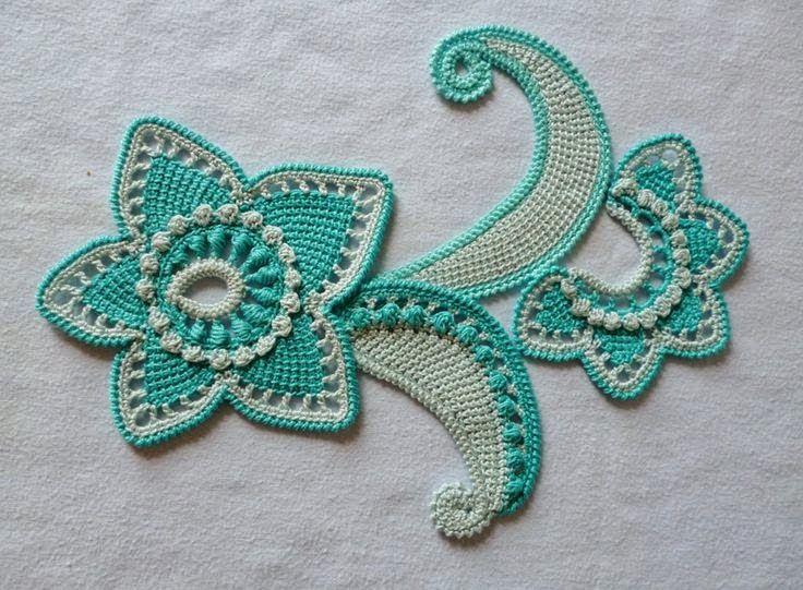 Техники вязания цветов крючком 38