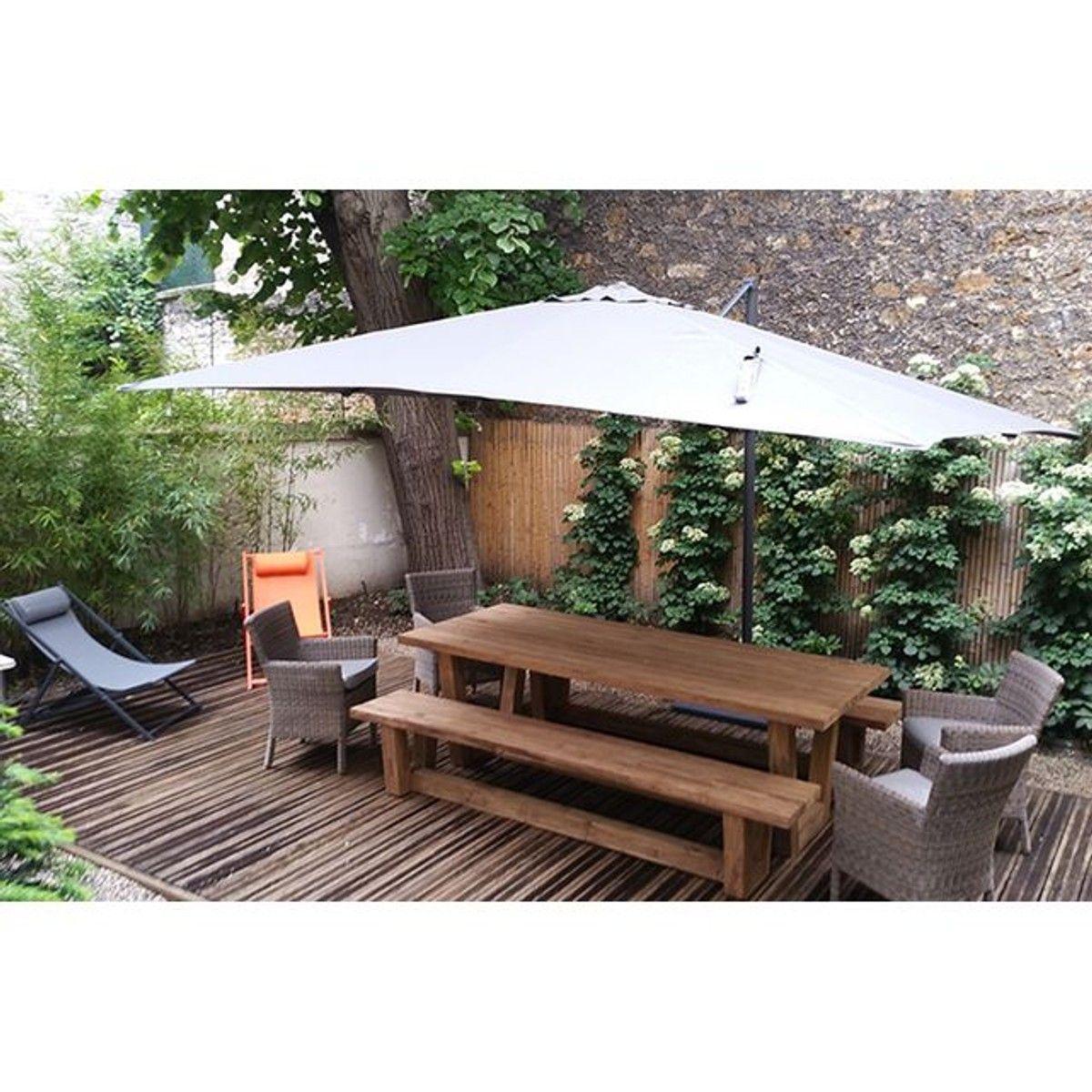 Banc de jardin en teck massif recyclé 250 cm Granby | Altbau ...