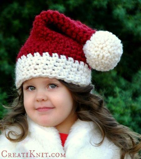 Free Santa Hat Crochet Pattern | Crochet Hats | Pinterest ...