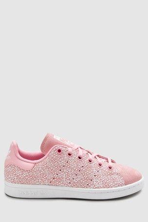 sale retailer 7d9e0 9bb7f adidas Originals Pink Spot Stan Smith Youth