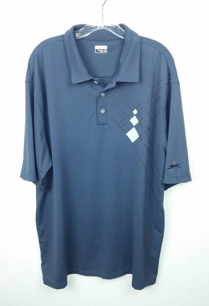 5c31eccf3 Slazenger Men 2XL Golf Shirt Polo Gray Short Sleeve Diamond Polyester  Spandex  Slazenger