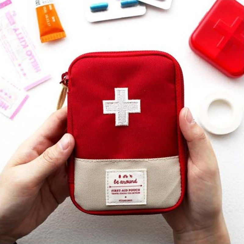 Cute First Aid Kit Mini Survival Emergency Bag Multi Layer Pouch Outdoor Sport Travel Medical Storage First Aid Kit Travel Emergency Bag Survival First Aid Kit