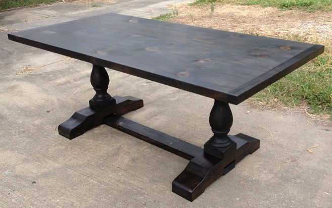 3x6 Onyx Turned Trestle Table How To Antique Wood Table Dining Table Chairs