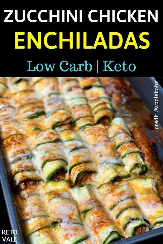 are corn tortillas rolled around a filling and covered with sauce To make the ketofriendly recipe and keep it low carb we use zucchini and chicken for the fillings Try it...