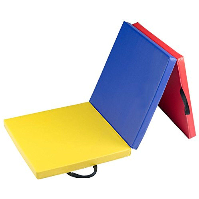 MAT EXPERT 6'x2' TriFold Gymnastics Mat with Carry