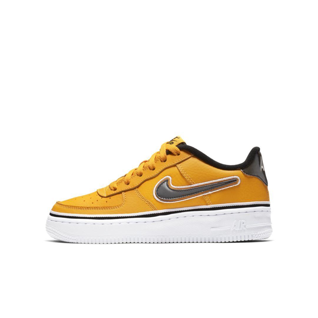 ce196f406b Nike Air Force 1 LV8 Sport NBA Big Kids' Shoe Size 5.5Y (University Gold)