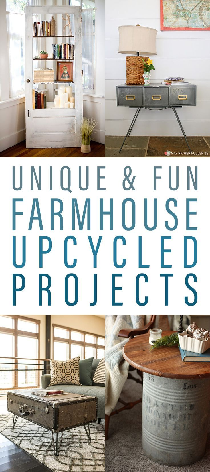 Unique and Fun Farmhouse Upcycled Projects.  Come and see how upcycling brings fresh new life into items!  All of these projects are inspiring and would look amazing in your Farmhouse Home!  #FarmhouseDIY #DIYFarmhouseHomeDecorAccessories #upcycling #Upcycle #FarmhouseUpcycling #farmhouse  #FarmhouseUpcycingProjects #DIYFarmhouseProjects #UpcycledCardCatalog #UpcycledVintageDoor #UpcycledDoor #UpcycledDrawer