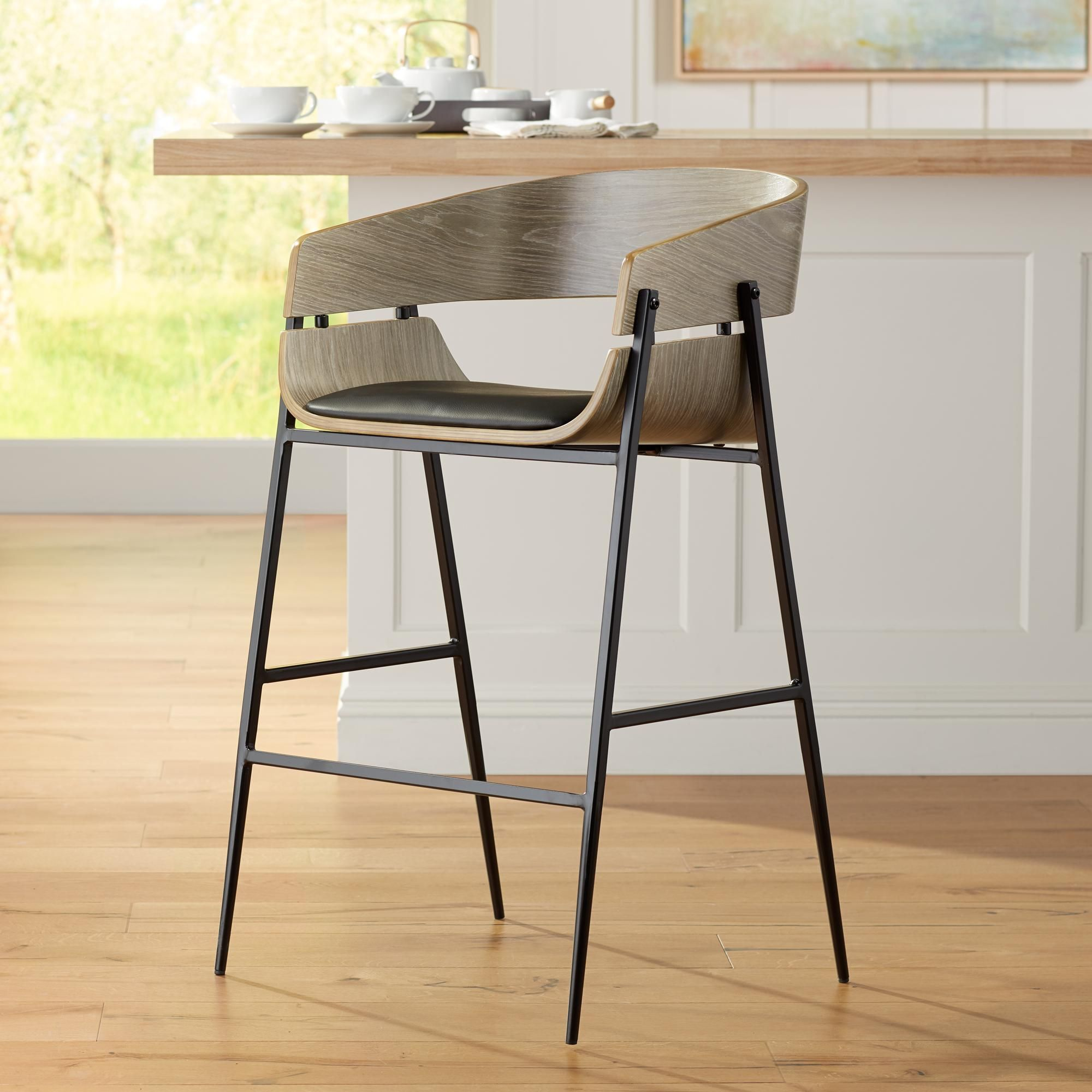 Hendrick 25 And One Quarter Inch Gray Counter Stool Set Of 2 In 2020 Modern Counter Stools Counter Stools