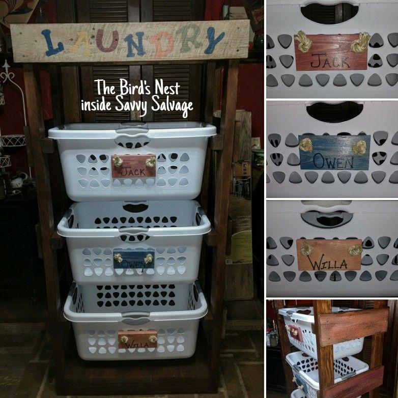 Personalized laundry organizer. theuniversalpaint