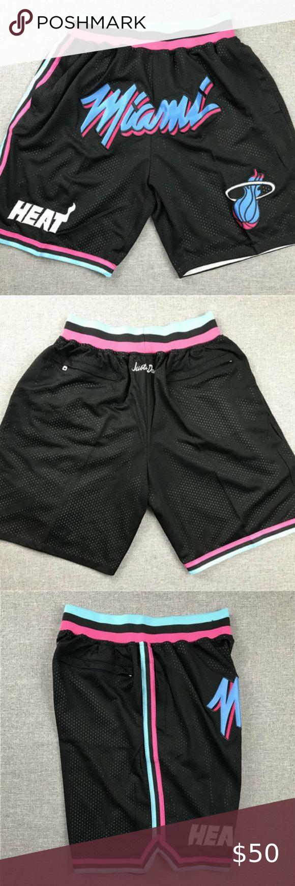 Miami Heat Jimmy Butler Basketball Shorts Stitched City Edition Black