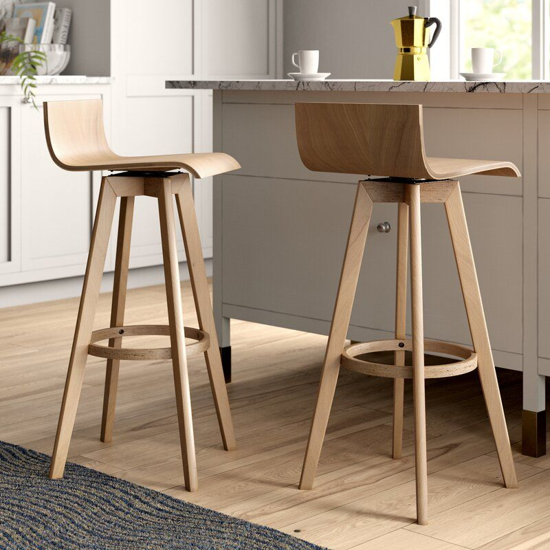 Dery 29 Swivel Bar Stool Reviews Allmodern Modern Bar Stools Bar Stools Counter Stools