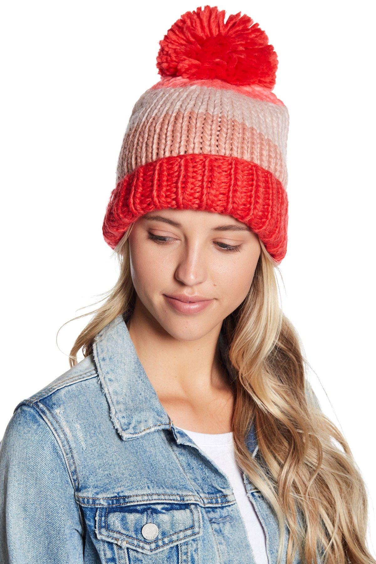 e9626fb613d22 hand knit colorblock beanie