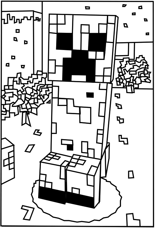 Minecraft Creeper Coloring Pages Coloriage Minecraft Image A