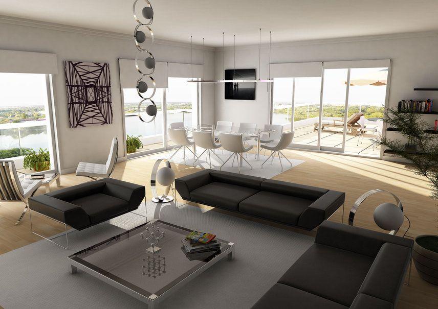 Interieur design, woonkamer, sofa, stoel, tafel wallpaper ...