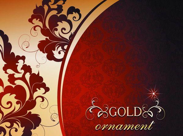 أجمل مجموعة زخارف للفوتوشوب الجزء الثاني Stock Vector 2 خلفيات فوتوشوب فريمات وزخارف للفوتوشوب Gold Ornaments Design Art