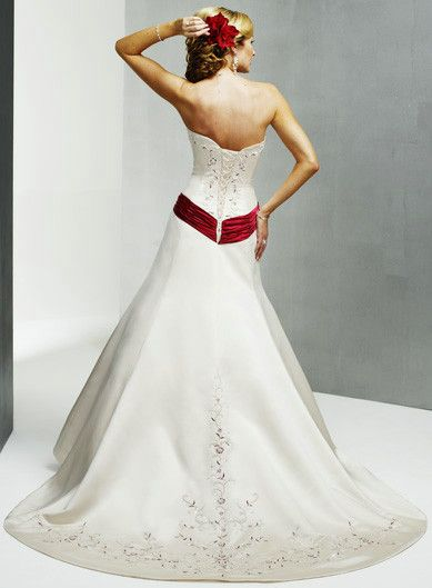 Wedding Dresses With Color item colorwd120 by dream bridal dresses factory