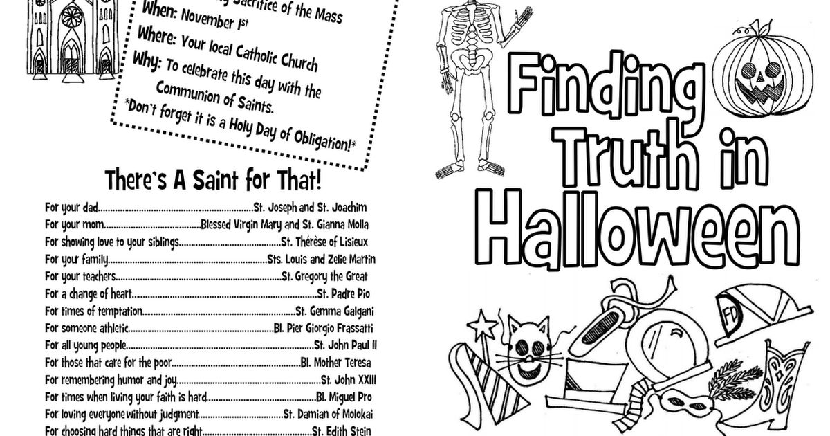 Finding Truth In Halloween Coloring Book 15update Pdf Halloween Coloring Book Halloween Coloring Ccd Activities