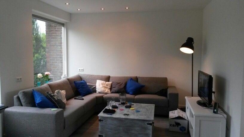 Zithoek met Hoekbank en spotjes in plafond - Verlichting   Pinterest ...