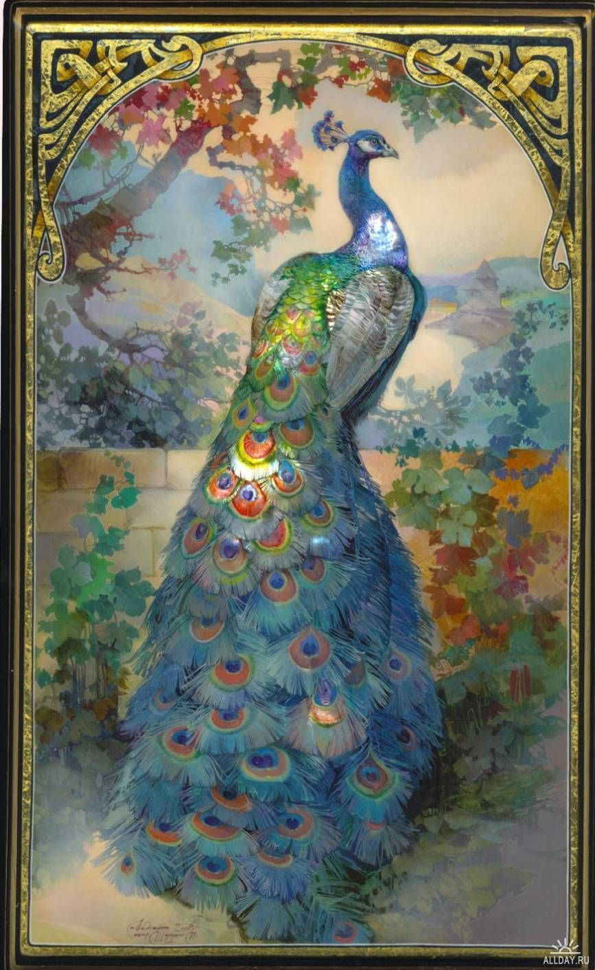 peacock painting | Peacocks Aplenty! | Peacock art, Peacock