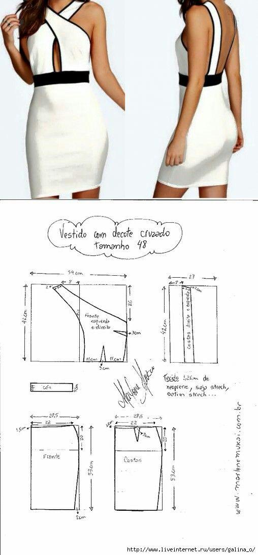 Cross collar dress...<3 Deniz <3 | rituales | Pinterest | Costura ...