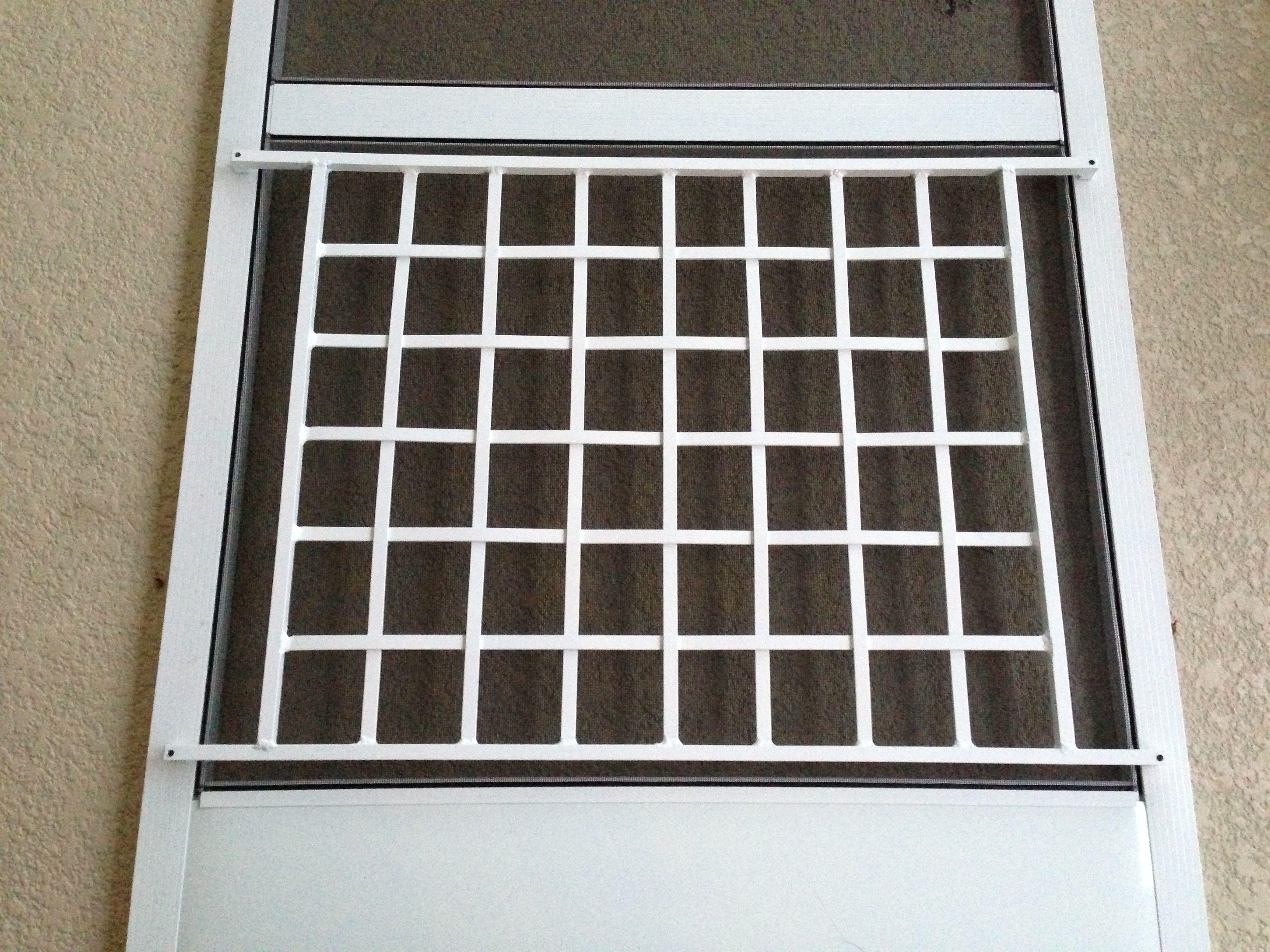 All Weather Basket Weave Screen Door Grille In White Www Doorandgrille Com Aluminum Screen Doors Rv Screen Door Decorative Screen Doors